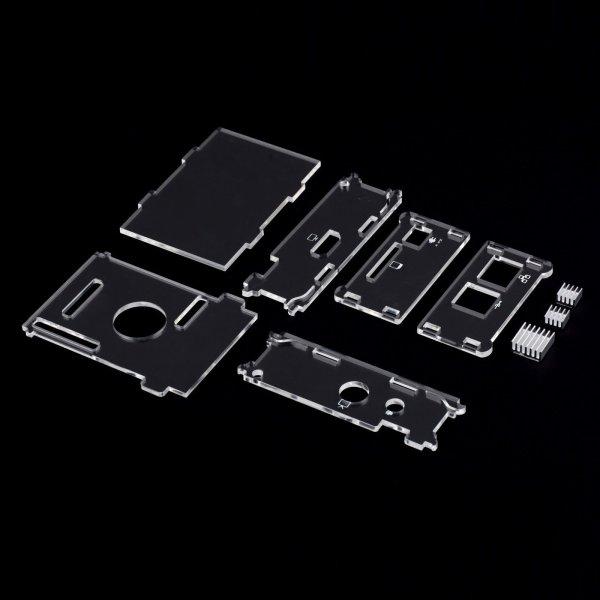 Crystal Clean Case für  Raspberry Pi mit 4 Heatsinks