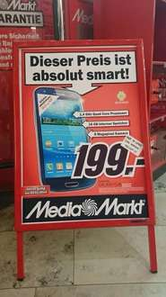 Samsung Galaxy S3 16GB blau im Media Markt Baden Baden