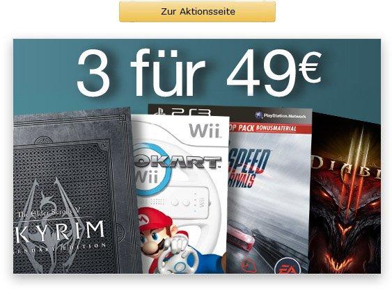 AMAZON  3 Games für 49 euro