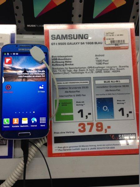 Samsung Galaxy S4 379,- € Saturn Köln Porz (lokal)