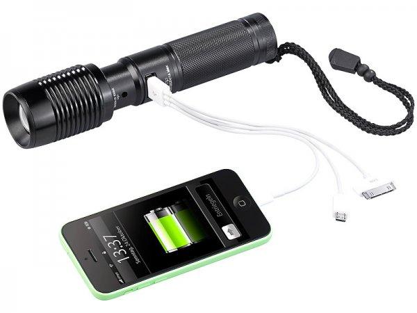 10 Watt Cree Led Tala 600lm Akku mit Notstrom über USB bei Pearl 29.90€ +4.90€ Versand