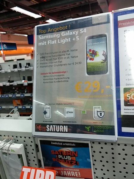 Samsung S4 für 399 € im Saturn Bremen Mitte