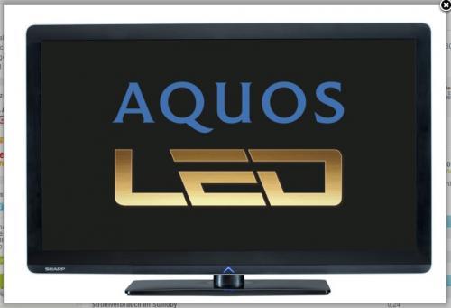Sharp LC 37 LE 320 E LED TV inkl. 2+1 Jahre Garantie