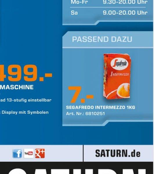[Lokal/Saturn-Köln] Segafredo Intermezzo Kaffee 1 kg Bohnen 7€
