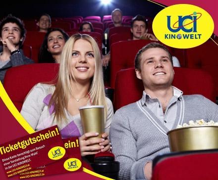 28,90 Euro statt 54 Euro für 5x Premium-Kinoerlebnis in der UCI KINOWELT – 5 Tickets für 23 UCI-KINOWELTEN deutschlandweit
