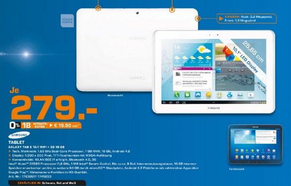 Samsung Galaxy Tab 3 (10.1) 16GB 3G für 279€ Lokal [Saturn Bergisch Gladbach]
