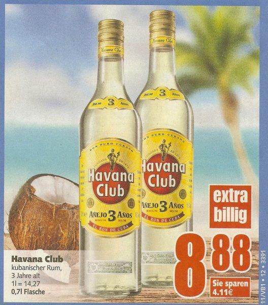 (lokal?) [Edeka Center Spandau] 0,7l Havana Club Rum, 3 Jahre für 8,88€