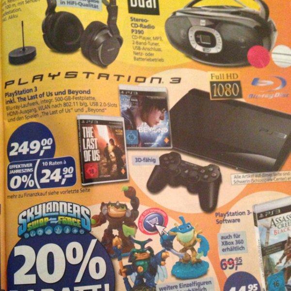 Playstation 3 / 500 GB / 2 Spiele für 249,00