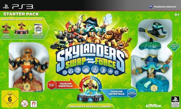 Skylanders Swap Force Starterpack für PS3 und WII und 20% auf alle Skylanders Einzelfiguren @real [offline und online]