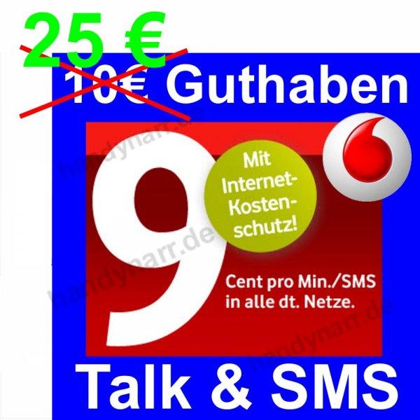 Vodafone D2 CallYa Talk & SMS Prepaid SIM Karte mit 25 € Guthaben