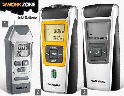 Workzone Multi-Sensor, Entfernungsmesser, Feuchtigkeitsmesser  -  ab 10.03.2014 (ALDI-Süd)