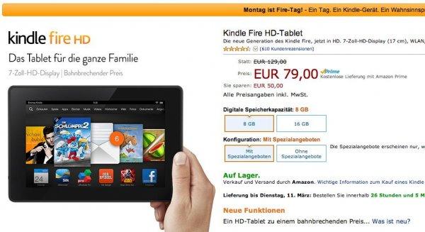 Amazon Kindle Fire HD-Tablet  7-Zoll-HD-Display