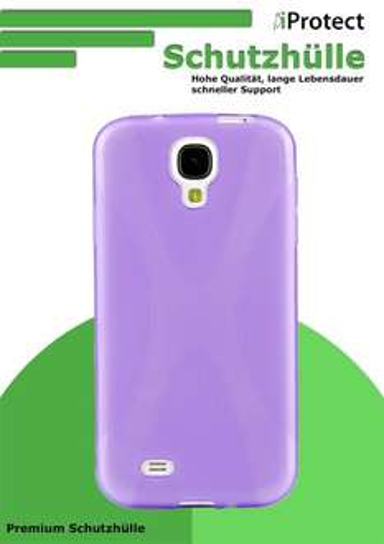 Preisfehler: iProtect TPU Schutzhülle Samsung Galaxy S4 Hülle X-Shape lila  - 6 Cent / Stück