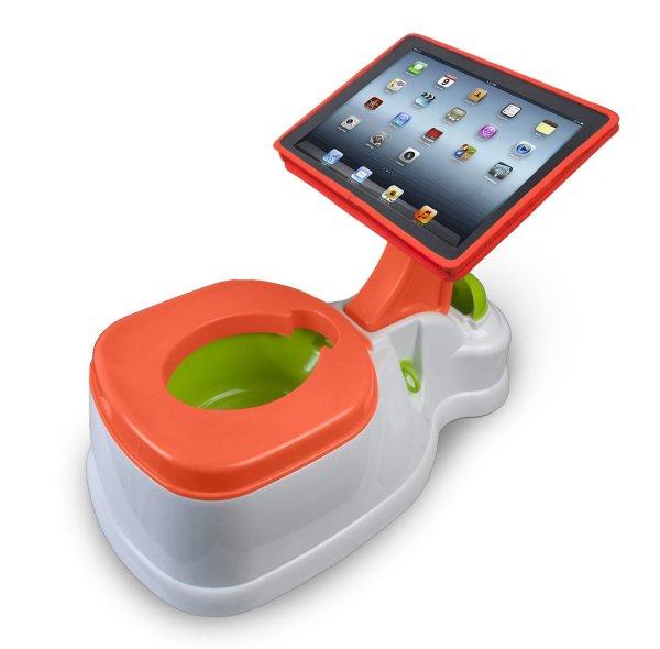 iPotty Active Seat: Kinderhocker und Töpfchen inkl. iPad/Tablet Halterung für Lernspiele etc. Tragfähigkeit 19kg (amazon)