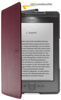 [WHD] Original Amazon Kindle Lederhülle + Lampe violett ab 10,67€! (UVP 54,99)