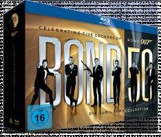 James Bond - Bond 50: Die Jubiläums-Collection (ohne Skyfall) + 1 Jahr GQ Abo für 80€ inkl Versand