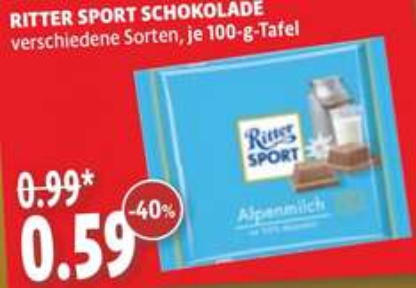 [kaisers] 100g Ritter Sport 0,59 Euro