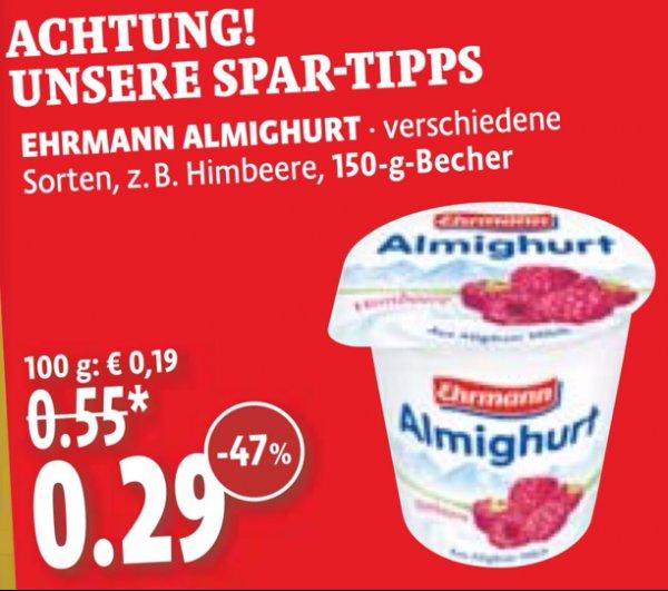 [kaisers] 150g Ehrmann Almighurt 0,29 Euro
