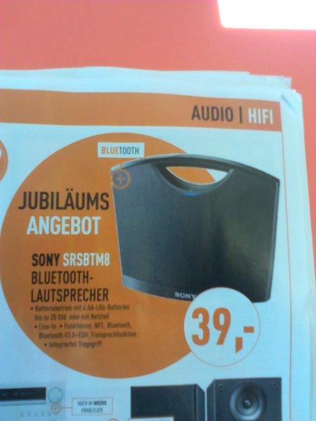Sony SRS-BTM8 LAUTSPRECHER für 39,- Euro @ BERLET Mobil, NFC, Bluetooth..............