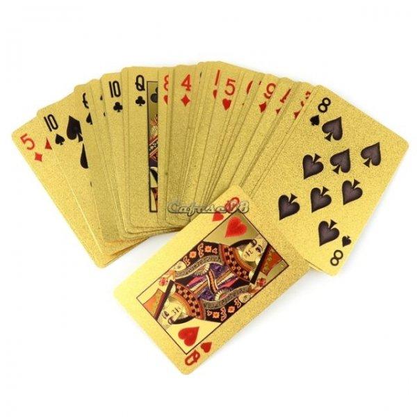 24k goldbedampftes Pokerdeck / Pokerkarten in Gold!