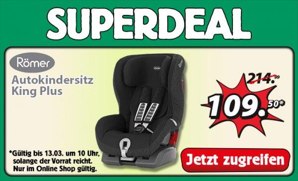 [Spiele Max] Römer Autokindersitz King Plus Stone Grey/Black Thunder für 109,50€+VK