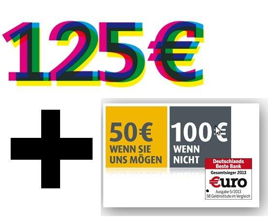 Comdirect Kunde wirbt Neukunde , bis zu 125€ bekommen + 50€ (max 100€) für den Giro-Neukunden