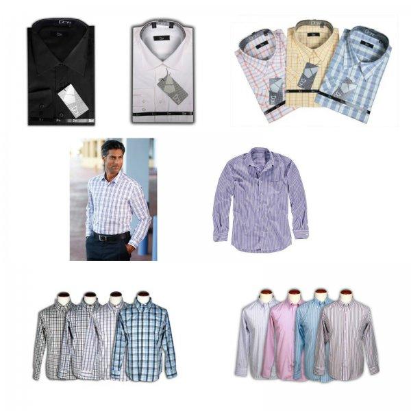 Ebay: Herren Hemden  unifarben kariert gestreift langarm - Nur 10,95 €