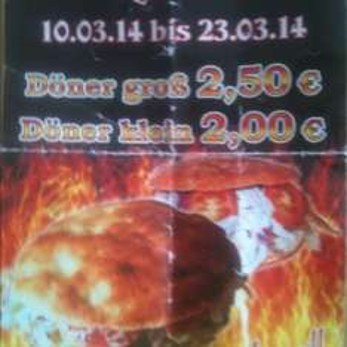 Döner 2,50€ gr. (Lokal Landau)