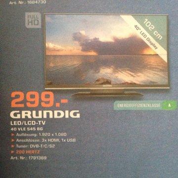 "Grundig VLE 545 BG 40'""Full HD LED für 299,- Lokal [Saturn München Riem]"