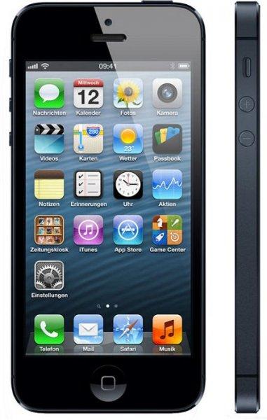 Apple iPhone 5 64 GB schwarz & Graphit für 529,19€ inkl. Versand bei Conrad