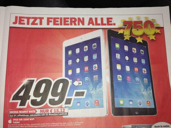 [LOKAL MM Weiterstadt ] iPad Air 32 GB WIFI für 499€