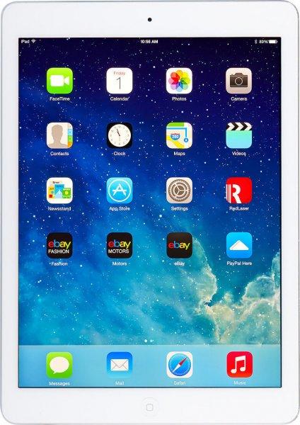 Apple iPad Air Wi-Fi 32GB, 24,6 cm (9,7 Zoll) - Silber (aktuellstes Modell) @ebay
