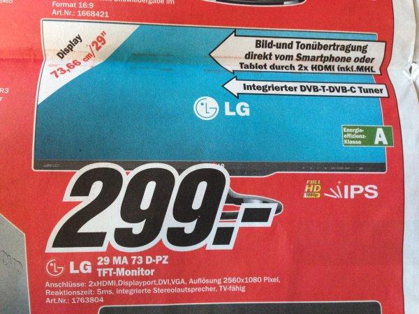 [Lokal Bonn] LG 29MA73D-PZ 29 Zoll 21:9 Monitor mit TV-Funktion