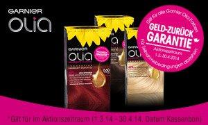 Garnier Olia Haarfarbe risikofrei TESTEN bis zum 30.04.2014 (Geld zurück-Garantie)