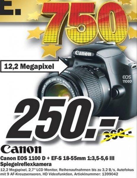 Canon EOS 1100D Kit 18-55 mm  250€ Lokal [Mediamarkt Duisburg]