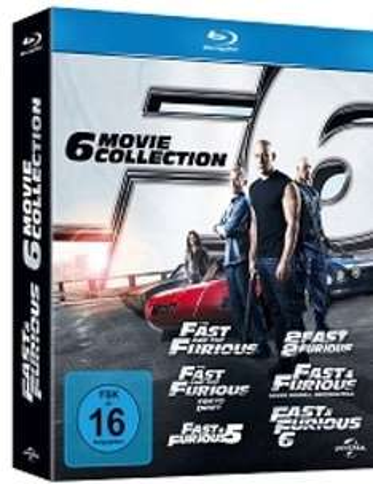 Fast & Furious 1-6 Bluray Box für 30 € bei Filiallieferung @ Saturn.de Late Night Shopping / Update: Nun auch bei Amazon.de