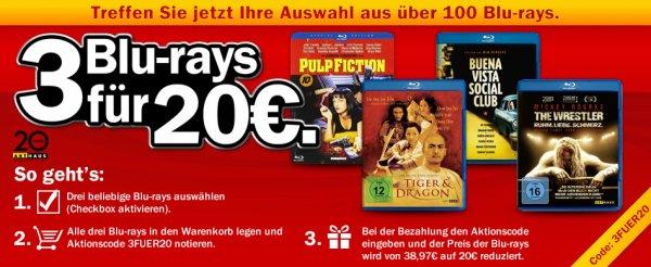 [mediamarkt.de] 3 Blu-rays für 20€ (Arthaus Titel)