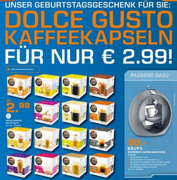 Dolce Gusto Kaffeekapseln für 2,99€ @Saturn Dortmund-City, Eving, Lünen und Soest