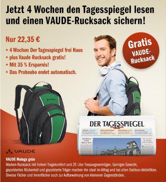 Vaude Rucksack + 4 Wochen Zeitung der Tagesspiegel