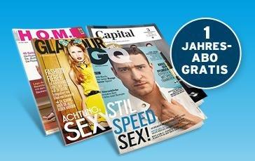 1 Jahr GQ oder Glamour Abo (Digital) + Blau.de Prepaidkarte für 9,90€