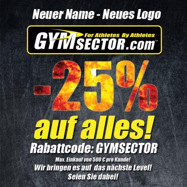 25 % auf alle Artikel von  Gymsector.com/de (ehemals Bodystore.de)