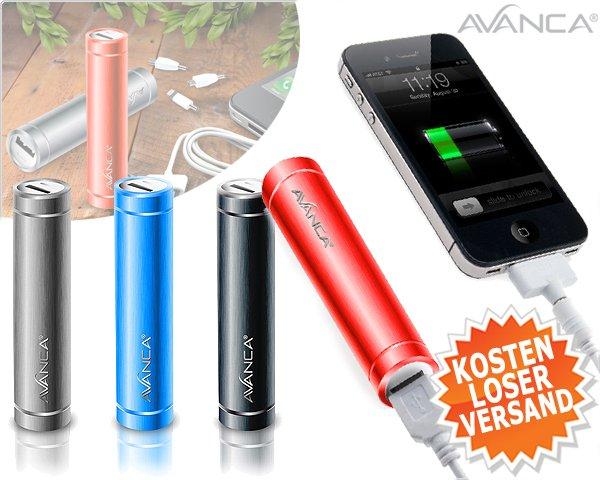 AVANCA 2200mAh Notauflader für Smartphones, Tablets etc.