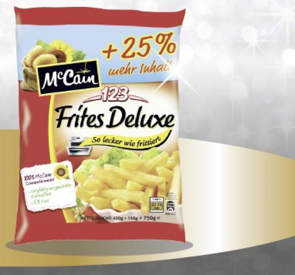 [Rewe wohl bundesweit] McCain Frites Deluxe mit +25% mehr Inhalt für 1,11€