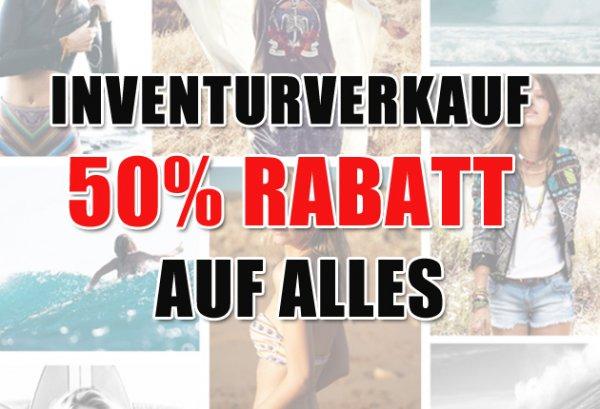 [RESULT24] Inventurverkauf! 50% auf alle Artikel im Shop