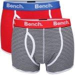 Bench Menx27s 2 Pack Boxers- Black Stripe/Red für 10,75€ inkl. Versand