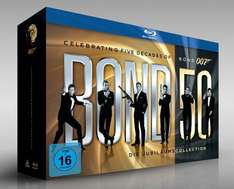 James Bond 50: Die Jubiläums-Collection (ohne Skyfall) [Blu-ray] @ Amazon WHD