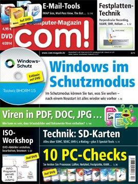 com! Magazin mit DVD 1 Jahr für 9,88€