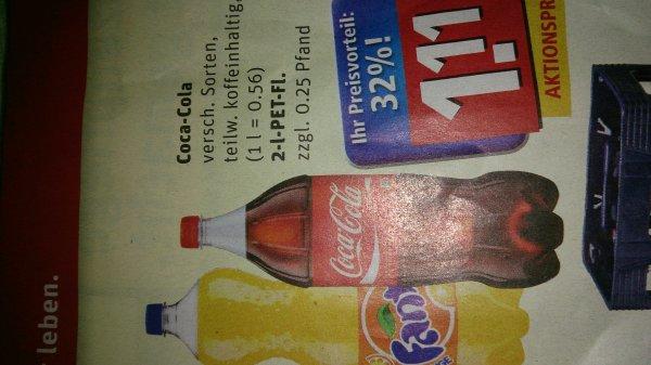 Rewe Bundesweit Coca Cola 2L für 1,11 Euro