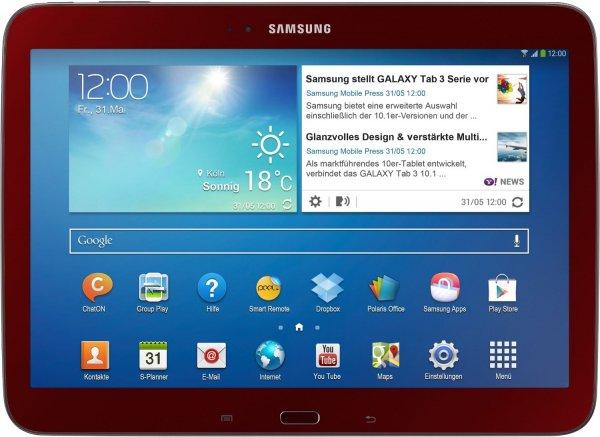 Samsung Galaxy Tab 3 10.1 16 GB Red Edition für 161,62inkl. Versand @Amazon.it