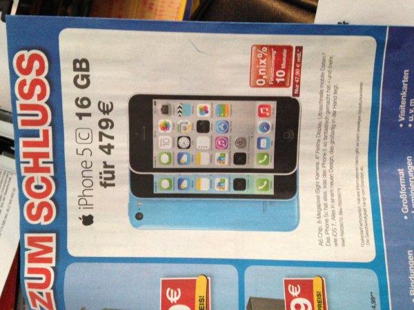 [Lokal in den Staples Filialen ] iPhone 5c 16GB Euro 479,- (oder 10 x 47,90)